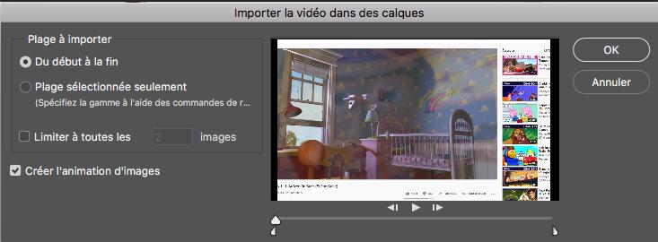Fenetre video photoshop